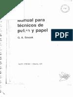 Manual Para Técnicos de Pulpa y Papel