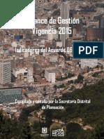 Informe Acuerdo 067 Vigencia 2015 Definitivo Marzo 31