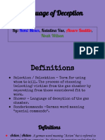 language of deception- group project- mrs  brant