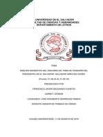 Análisis Semántico Del Discurso de Toma de Posesión Del Presidente de El Salvador, Salvador Sánchez Cerén