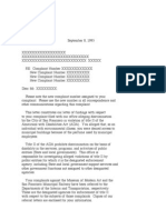 US Department of Justice Civil Rights Division - Letter - cltr116