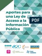 Aportes Para Una Ley de Acceso a La Información Pública