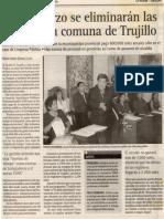 La República 10-01-07 Desde marzo se eliminarán las services en comuna de Trujillo