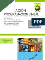 Modelación de problemas Programación Lineal