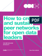 How to create and sustain peer networks for open data leaders