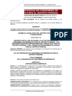 Ley de Propiedad en Condominio en El Distrito Federal