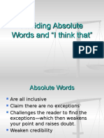 avoiding absolutewords