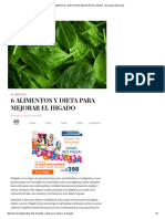 6 Alimentos y Dieta Para Mejorar El Higado - Barcelona Alternativa