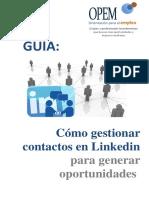 Guía - Cómo Gestionar Contactos en Linkedin Para Generar Oportunidades