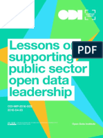 Lessons on supporting public sector open data leadership