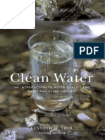 clean water an introduction to water quality and pollution control