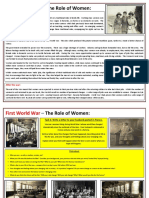 First World War - Women in Wartime - Learning Resource