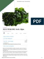 ALGA WAKAME_ Serie Algas - Barcelona Alternativa