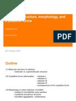 Lecture 2 - Cellulose Structure