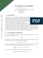 Distance Measurements in Cosmology