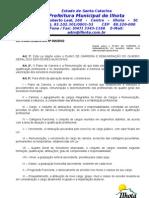 Lei Complementar 006-2002 - PLANO DE CARREIRA E REMUNERAÇÃO DO QUADRO GERAL DOS SERVIDORES MUNICIPAIS DE ILHOTA