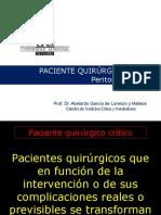Paciente Quirúrgico Crítico. Peritonitis Terciaria 2011 2012