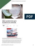 Diez Alimentos Que Eliminan El Dolor - Barcelona Alternativa