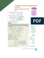Ecuaciones Bicuadradas e Irracionales
