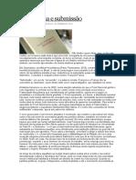 Decadência e Submissão (Sobre a Obra Submissão, De Houellebecq