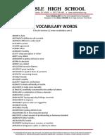 Act Vocabulary Words