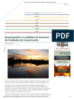 Sobre Artigo Perda Das UC No Brasil