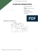 Circuito Controlador de Carga Solar e Carregador de Bateria