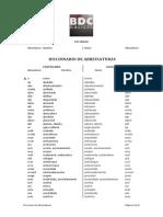 Diccionario de Abreviaturas
