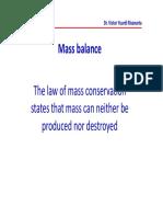 Mass and Heat Balance