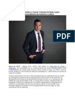 Sophos Nombra a Oscar ChavezArrieta Como Vicepresidente de America Latina