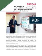 NP Lanzamiento Del TechPortal - Ricoh