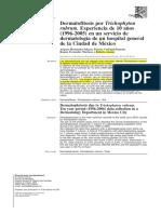 dermatofitosis Por T. Rubrum en México