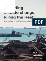 Exporting Climate Change & Killing the Reef