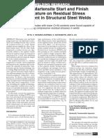 Effect of Martensite Start and Finish Terhadap Hasil Pengelasan Cr-ni