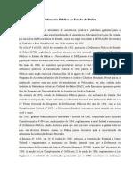 Defensoria Pública Do Estado Da Bahia