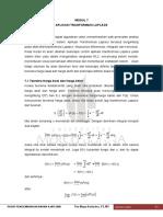 Modul 7 Aplikasi Transformasi Laplace
