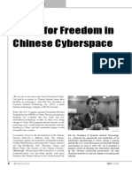 Battle for Freedom in Chinese Cyberspace