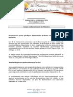 Compte Rendu - Conseil Des Ministres Du 20 Avril 2016 (2)