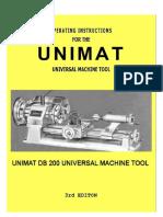 Unimat MUNIMAT MACHINE TOOL 3RD EDITIONachine Tool 3rd Edition