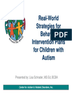 Real World Strategies for Behavior Intervention Plans for Children With ASD