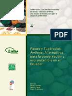 Raíces y Tubérculos Alternativas Para El Uso Sostenible en Ecuador