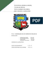 Informe de Laboratorio 1 - Propiedades de Compuestos Organicos