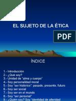 7.- El Sujeto de La Etica