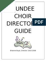 dundee choir directors guide