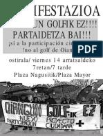 maiatzak 14 manifestazioa
