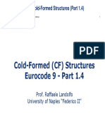 Cold-Formed (CF) Structures Erocode 9 - Part 1.4