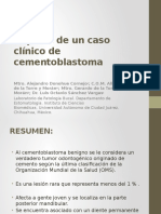 Reporte de Un Caso Clínico de Cementoblastoma