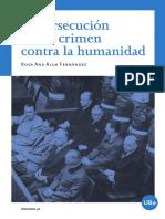 """Índice del libro """"La persecución como crimen contra la humanidad"""""""