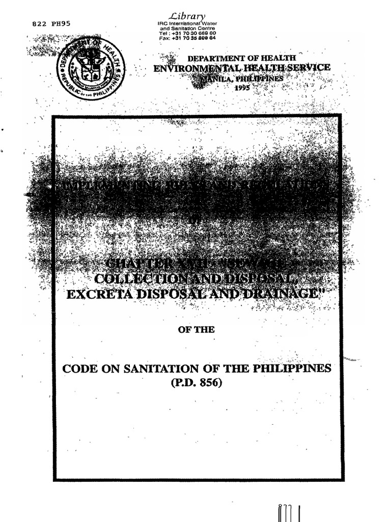 Code of Sanitation of the Philippines | Septic Tank