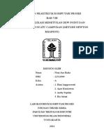 Bab 8 Contoh Aplikasi Menentukan Dew Point Dan Bubble Point Suatu Campuran Metode Newton Rhapson